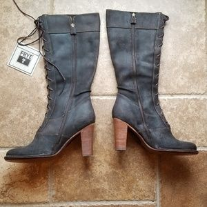 Brand new Frye Villager boho lace up boots